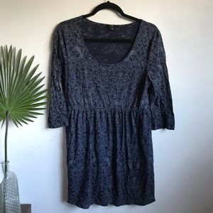 Blue Paisley Skater Dress